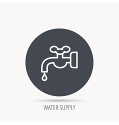 Water supply icon Crane with drop sign vector image