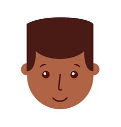 Young man black head character vector