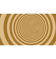 Brown Circle Striped Abstract Tunnel vector image