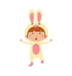 Child Wearing Costume of Bunny vector image vector image