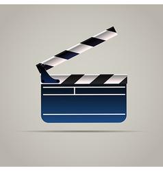 Cinema Film Clap Board Icon vector image