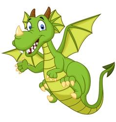 Cute cartoon dragon vector image vector image