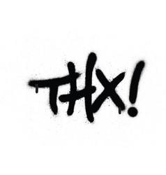graffiti thx chat abbreviation in black over white vector image