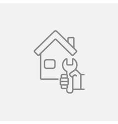 House repair line icon vector image