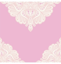 Pink lace ornament vector image vector image