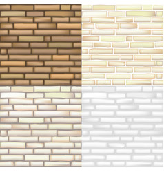 set of brick textures vector image vector image