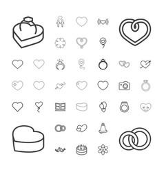 37 wedding icons vector