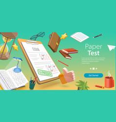 3d conceptual of paper test vector
