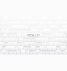 3d squares tech white abstract background vector
