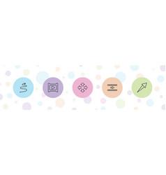 5 next icons vector