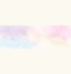 Abstract minimal pastel watercolor for background vector