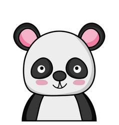 Adorable and happy panda wild animal vector