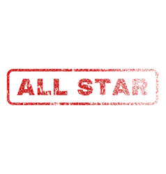 all star rubber stamp vector image