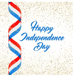 american independence day poster template 4th vector image
