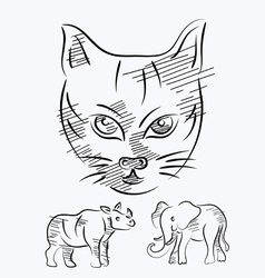 Animal sketch vector