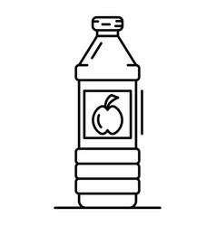 apple vinegar bottle icon outline style vector image