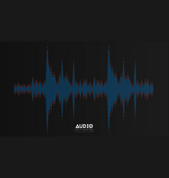 audio wavefrom abstract music waves vector image