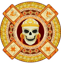 aztec god of death vector image