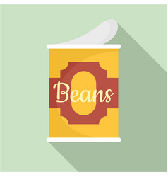 beans tin can icon flat style vector image