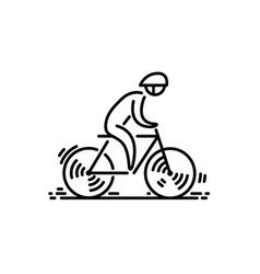 bicycle bike icon cycling thin line icon vector image