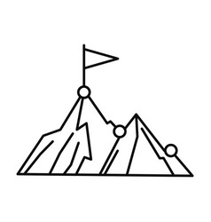 business mountain target icon outline style vector image