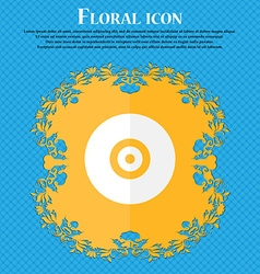 CD or DVD Floral flat design on a blue abstract vector