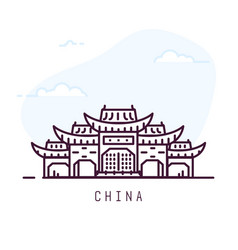 China line city vector