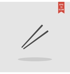 Chopsticks flat icon for food apps and websites vector