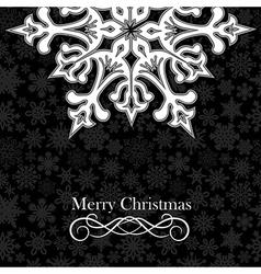 christmas snowflake postcard background vector image