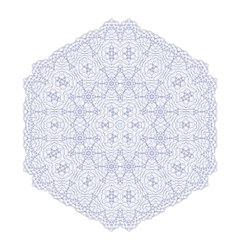 Circle Lace Ornament Round Geometric Pattern vector