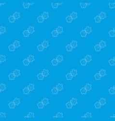 cogwheel pattern seamless blue vector image