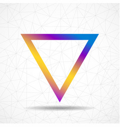 colorful abstract triangle logo isolated on white vector image