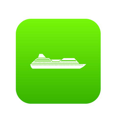 cruise liner icon digital green vector image