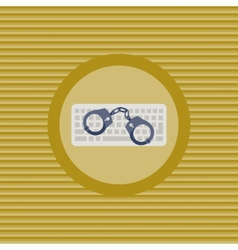 Cyber crime flat icon vector image