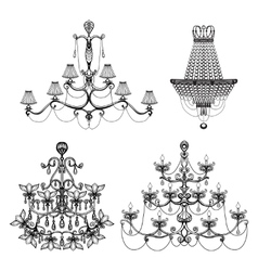 Decorative Chandelier Set vector image