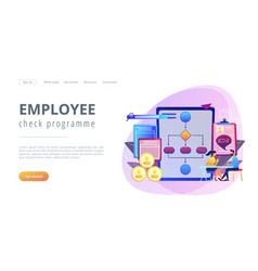 Employee assessment software concept landing page vector