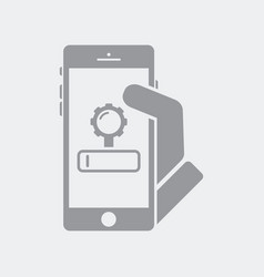 engine search settings on smartphone vector image
