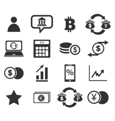 Finance icon set 4 simple vector