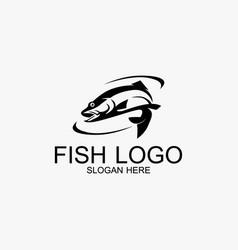 fish logo design modern template vector image