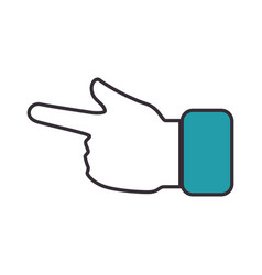 hand pointing icon vector image vector image