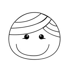 happy boy cartoon icon image vector image