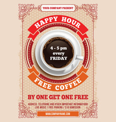 Happy Hour poster vector