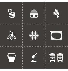 Honey icon set vector