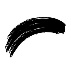 Ink brush wave curved paint artistic vector
