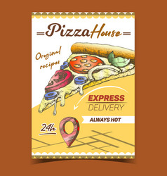 italian pizza house advertising banner vector image