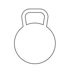 Kettlebell black color icon vector