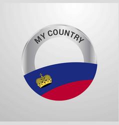Liechtenstein my country flag badge vector