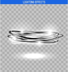 Light circle isolated Black and white glowing vector