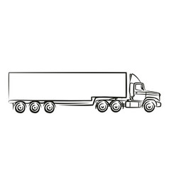 Logo of the big truck vector