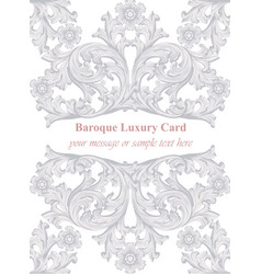 Luxury invitation card royal victorian vector